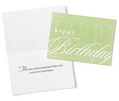 Scripted Birthday Greeting