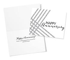 Silvery Glitter Anniversary