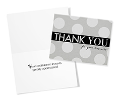 Gray Dotted Thank You
