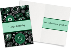 Chic Green Birthday Paisley