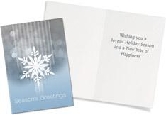 Falling Frosty Snowflake