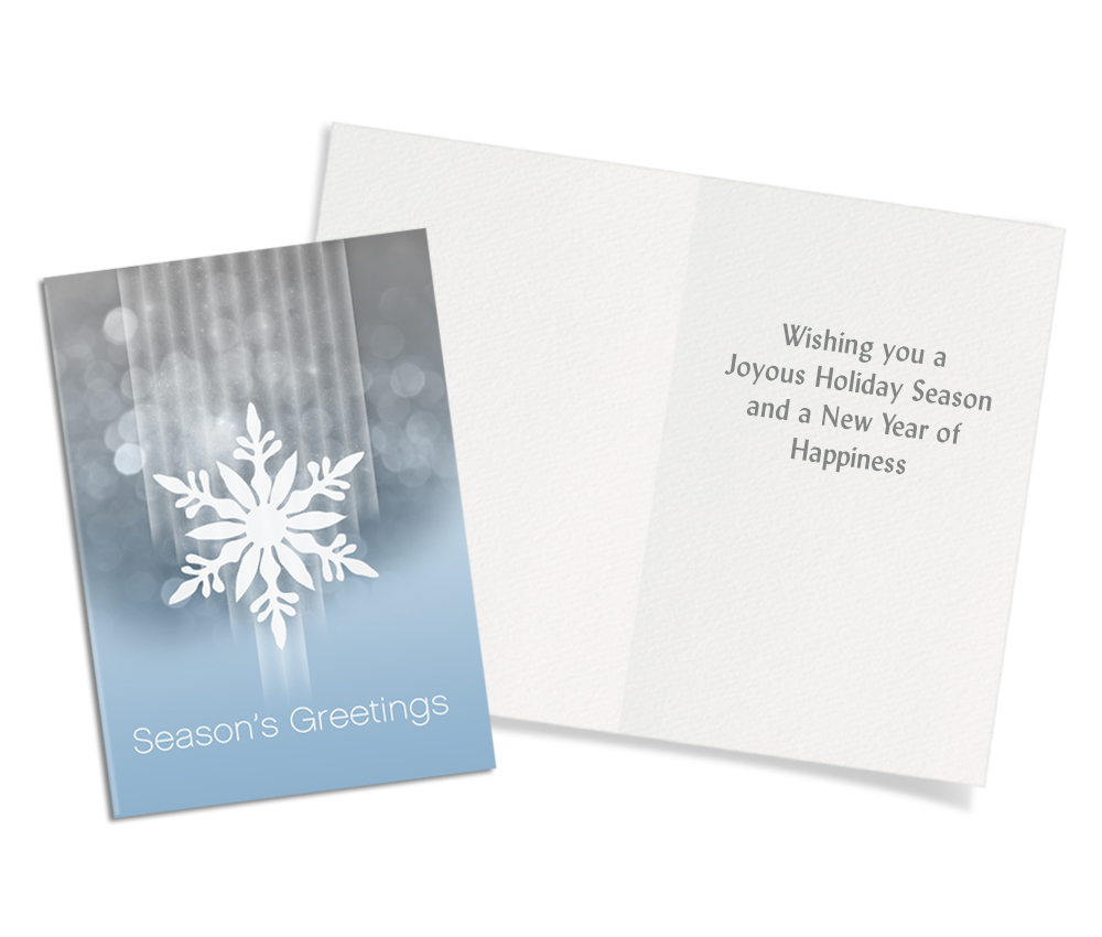 Snowflakes Holiday 30 Assorted Christmas Cards