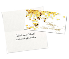 Gold-Star Anniversary Card