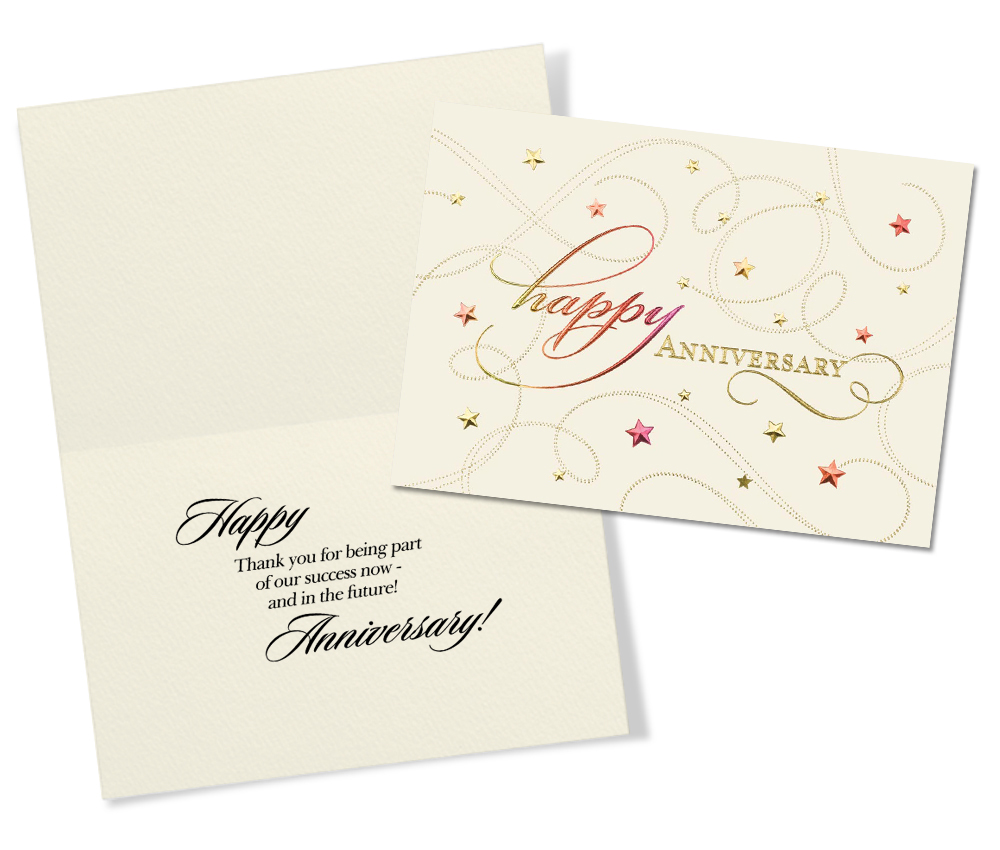 50 Assorted Anniversary Greeting Cards for Business