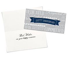 Words to Appreciate Anniversary Card