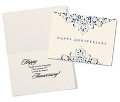 Flourishes Anniversary Card