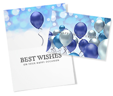 Blue Balloons Anniversary Card