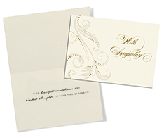 Flourish in Pearl Sympathy Card