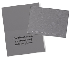 Embossed in Gray