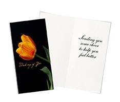 Tulip Treasure Get Well Card