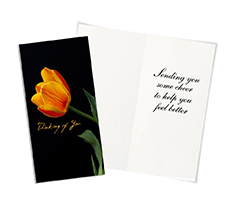 Tulip Treasure Get Well Card