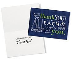 Every Single Day Thank You Card