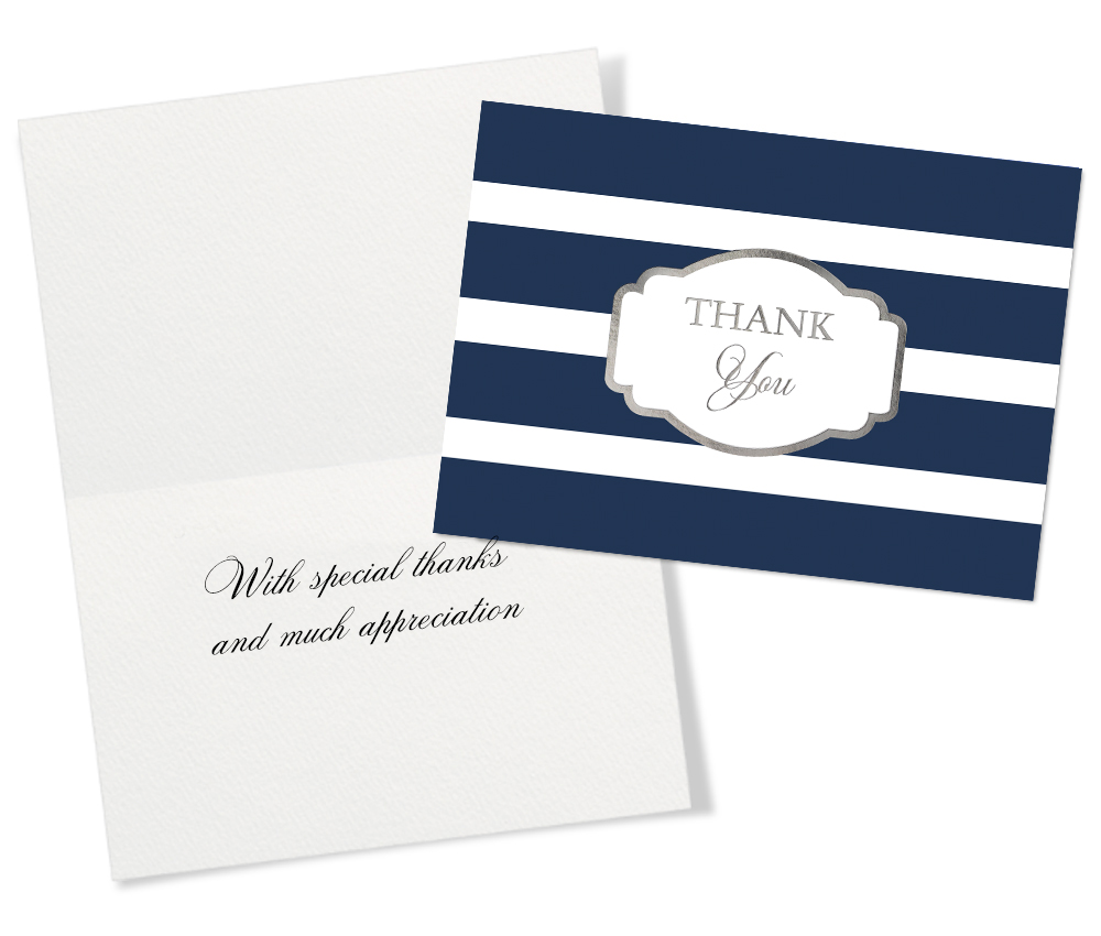 50 assorted thank you greeting cards