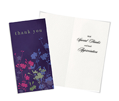 Floral Silhouette Thank You Card