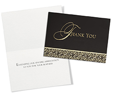 Gilded Details Thank You Card