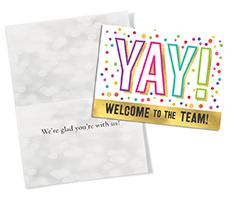 Yay, Welcome! Postcard