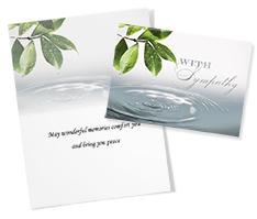 Water Drop Sympathy Card