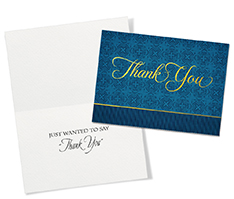 Simply Blue Thank You Card