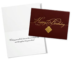 Gold Filigree Birthday Card