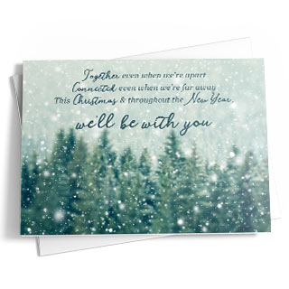 Christmas cards for businesses with free logo or photo uploads.