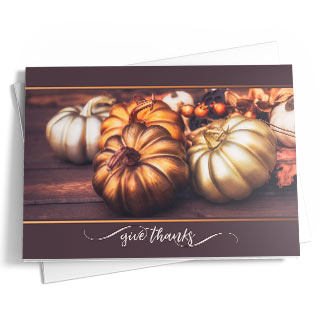 Thanksgiving cards for business and family.