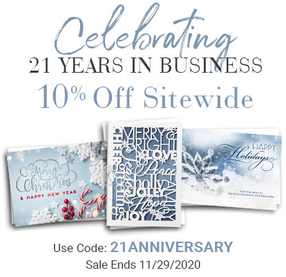 Celebrating 21 Years In Business. 10% Off Sitewide. Use Code: 21ANNIVERSARY. Sale Ends 11/29/2020
