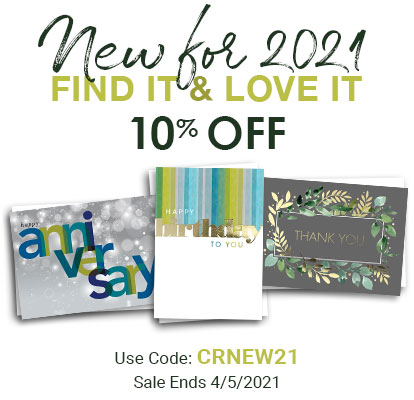 New for 2021. 10% OFF. Use Code: CRNEW21. Sale Ends 4/5/2021
