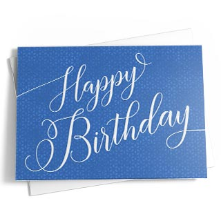Business birthday cards featuring your customizations. Upload signatures, logos and photos.