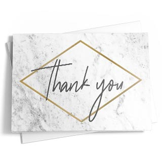 Business thank you cards featuring your customizations. Upload signatures, logos and photos.