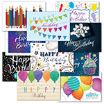 Bright Birthday Postcard Assortment (500)