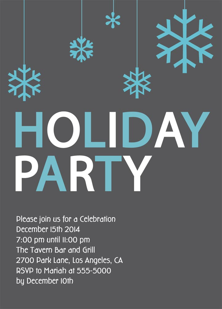 Holiday Party Invitation - Hlwhy