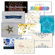 Assorted Anniversary Greeting Cards (50)