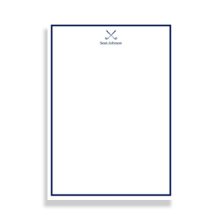 Golf-themed notepads with free customization.