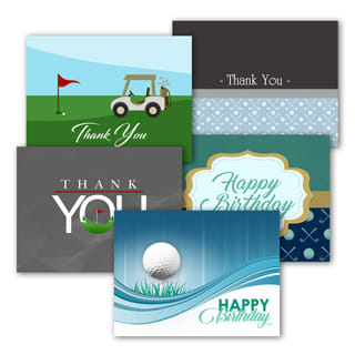 Golf-themed assortment packs.
