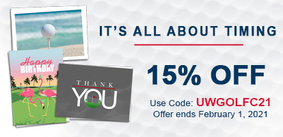 All Occasions Sale Use Code: UWGOLFC21. Sale Ends 2/1/2021.