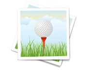 Personalzied golf theme napkin.
